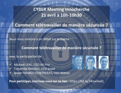 Cyber Meeting InnoCherche : mardi 21 avril 10h-10h30